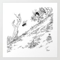 La Chasse aux Mouches / Fly Hunting Art Print