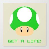 Get A Life! (Super Mario) Canvas Print
