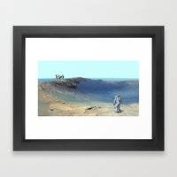 Cosmos & Indians Framed Art Print