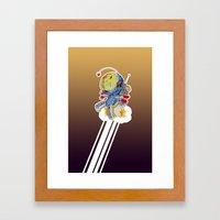 Rocket Bot Framed Art Print