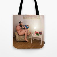 Beareading Tote Bag