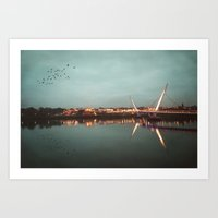 The Peace Bridge, Derry-… Art Print