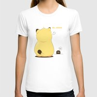 Monday Cat Womens Fitted Tee White SMALL
