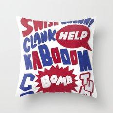 Superpop Throw Pillow