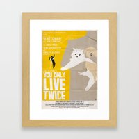 You Only Live Twice Framed Art Print