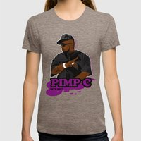 Chad 'Pimp C' Butler Womens Fitted Tee Tri-Coffee SMALL