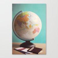 Travel planning Canvas Print