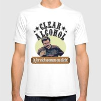 Clear Alcohol Is For Ric… Mens Fitted Tee White SMALL