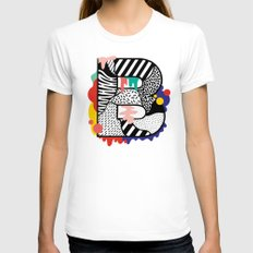 B for ... Womens Fitted Tee White SMALL