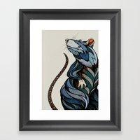 Berlin Rat Framed Art Print