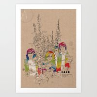Cellopahane flowers Art Print
