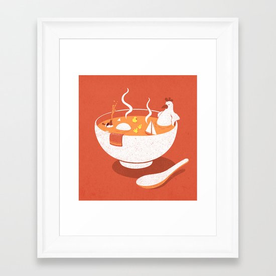 La Chicken Soup Framed Art Print