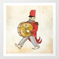 López, Bass Drum Art Print