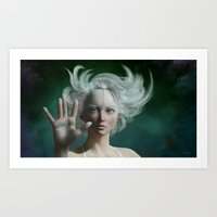 White Faun Art Print