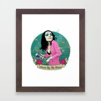 PJ Polly Jean down by the water Framed Art Print