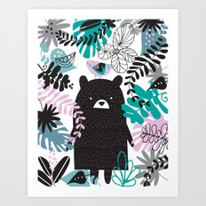 Bear Adventure Art Print