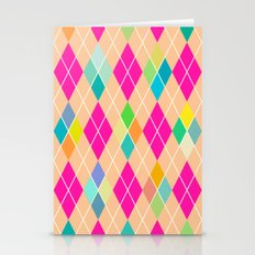 Colorful Geometric V Stationery Cards
