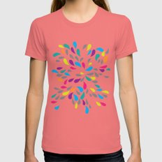 Teardrops Womens Fitted Tee Pomegranate SMALL