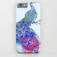 iPhone & iPod Case featuring Calm Blue Peacock by Maria Hegedus