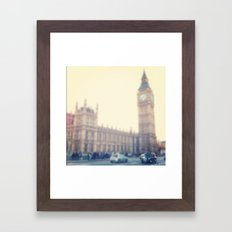 Black Cab Framed Art Print