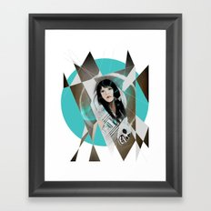 BAT FOR LASHES & The Mask Framed Art Print
