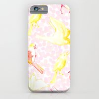 iPhone & iPod Case featuring Yellow Birds by Jen Moules