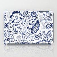 Folk Floral Indigo iPad Case