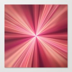 Pink Rays Abstract Fractal Art Canvas Print