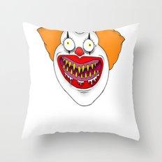 Cannibal Clown T-shirt Throw Pillow
