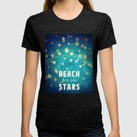 Reach For The Stars Womens Fitted Tee Tri-Black SMALL