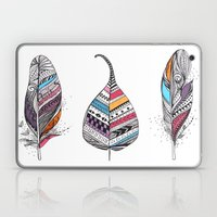 Aztec Leaf and Feathers Laptop & iPad Skin