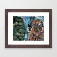 earth vibrations Framed Art Print