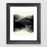 Mountains - BW Framed Art Print