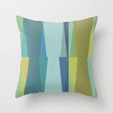 Mid Century Herringbone 1 Throw Pillow
