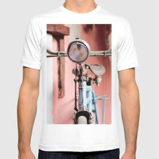 Vintage bicycle SMALL White Mens Fitted Tee