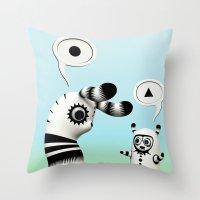 Lally Lama Throw Pillow