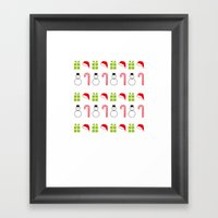 Christmas Icons Framed Art Print