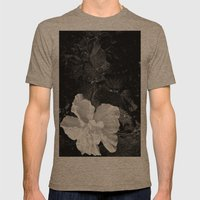 White Silk Mens Fitted Tee Tri-Coffee SMALL