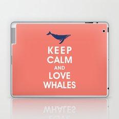 Keep Calm and Love Whales Laptop & iPad Skin