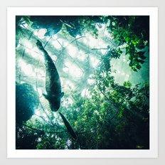 Glass Sea v. Synthetic Rainforest Art Print