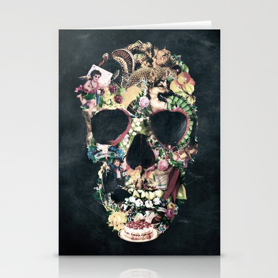 Vintage Skull Stationery Card