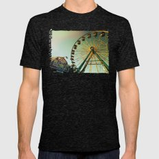 Horse and the Ferris Wheel Mens Fitted Tee Tri-Black SMALL
