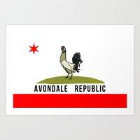 Avondale Republic Art Print