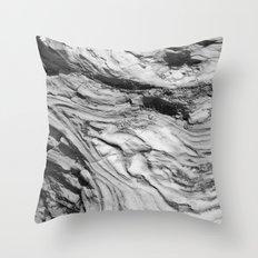 Monolithic Erosion Swirl Throw Pillow