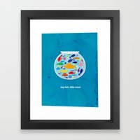 Big fish, little bowl.  Framed Art Print