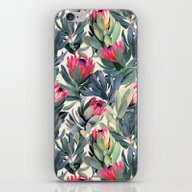 iPhone & iPod Skin featuring Painted Protea Pattern by Micklyn
