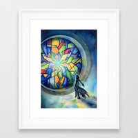 The Gate Of Many Panes Framed Art Print