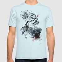 The Chosen One Mens Fitted Tee Light Blue SMALL