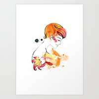 September Girl Art Print