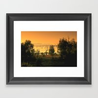 Lake Fyans Framed Art Print